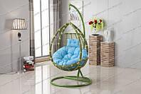"""Подвесное кресло-качели """"Kinder"""" зеленая стойка"""
