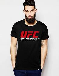 Мужская футболка UFC,мужская футболка УФС, спортивная, брендовая, хлопок, черная, размеры: ХС-ХХХЛ