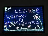 LED доска 60x40 Рекламная светодиодная доска. Рекламна світлодіодна дошка Sparkle Board + маркеры