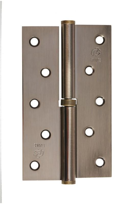 Петля стальная Gavroche gr 125*75*2.5мм B1 R ab (античная бронза)