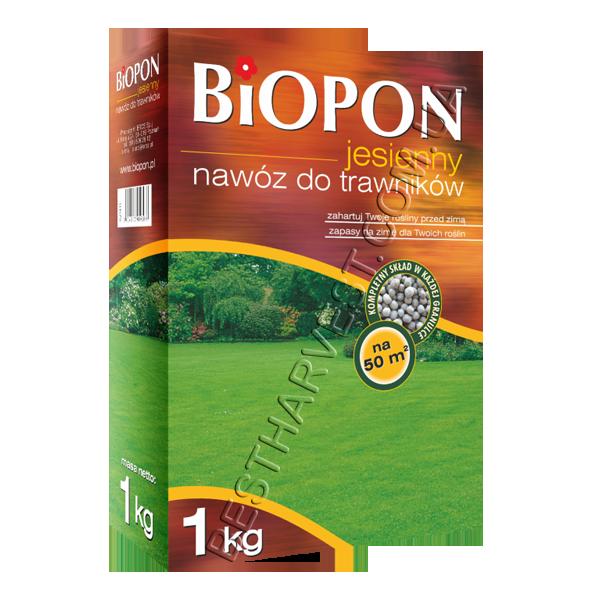 Удобрение «Биопон» (Biopon) для газона осеннее 1 кг, оригинал