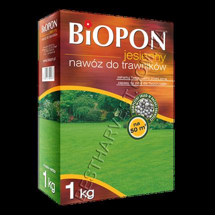 Удобрение «Биопон» (Biopon) для газона осеннее 1 кг, оригинал, фото 2