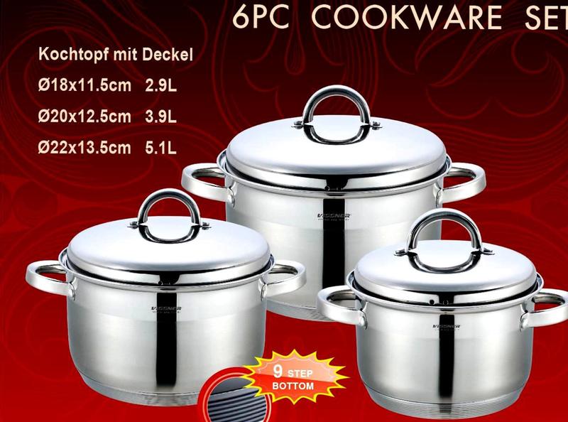 Набор посуды Vissner VS 10620 (6 предметов)