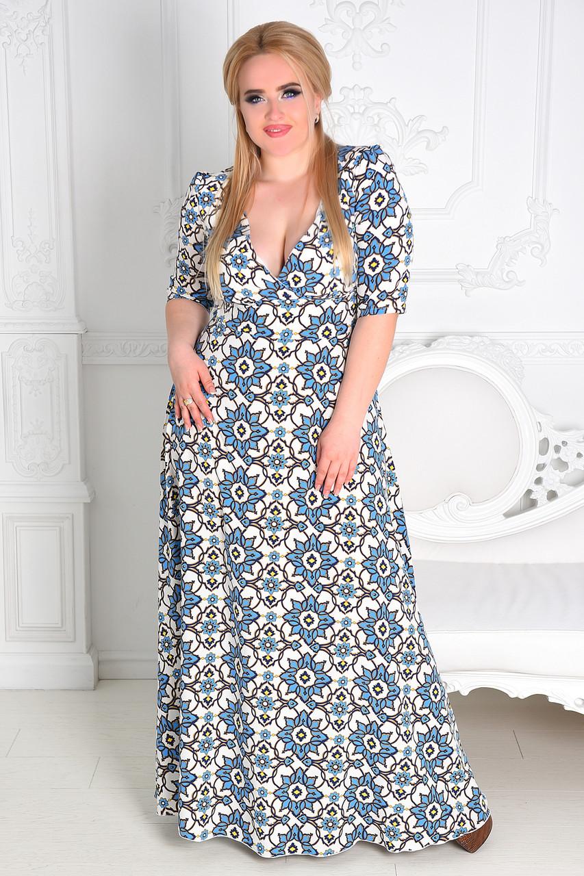 Женское вечернее платье в пол  8174