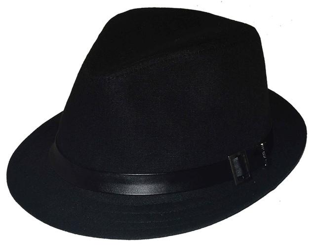 Шляпа мужская Хантор лен черный