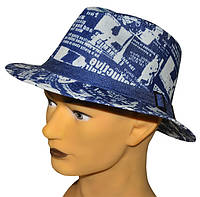 Шляпа мужская Хантор поле вниз новые буквы