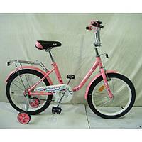 """Двухколесный велосипед Profi Flower 18"""" Розовый (L1881) с багажником"""