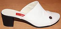 Сабо закрытые кожаные на каблуке, обувь сабо от производителя модель СТЛ10К
