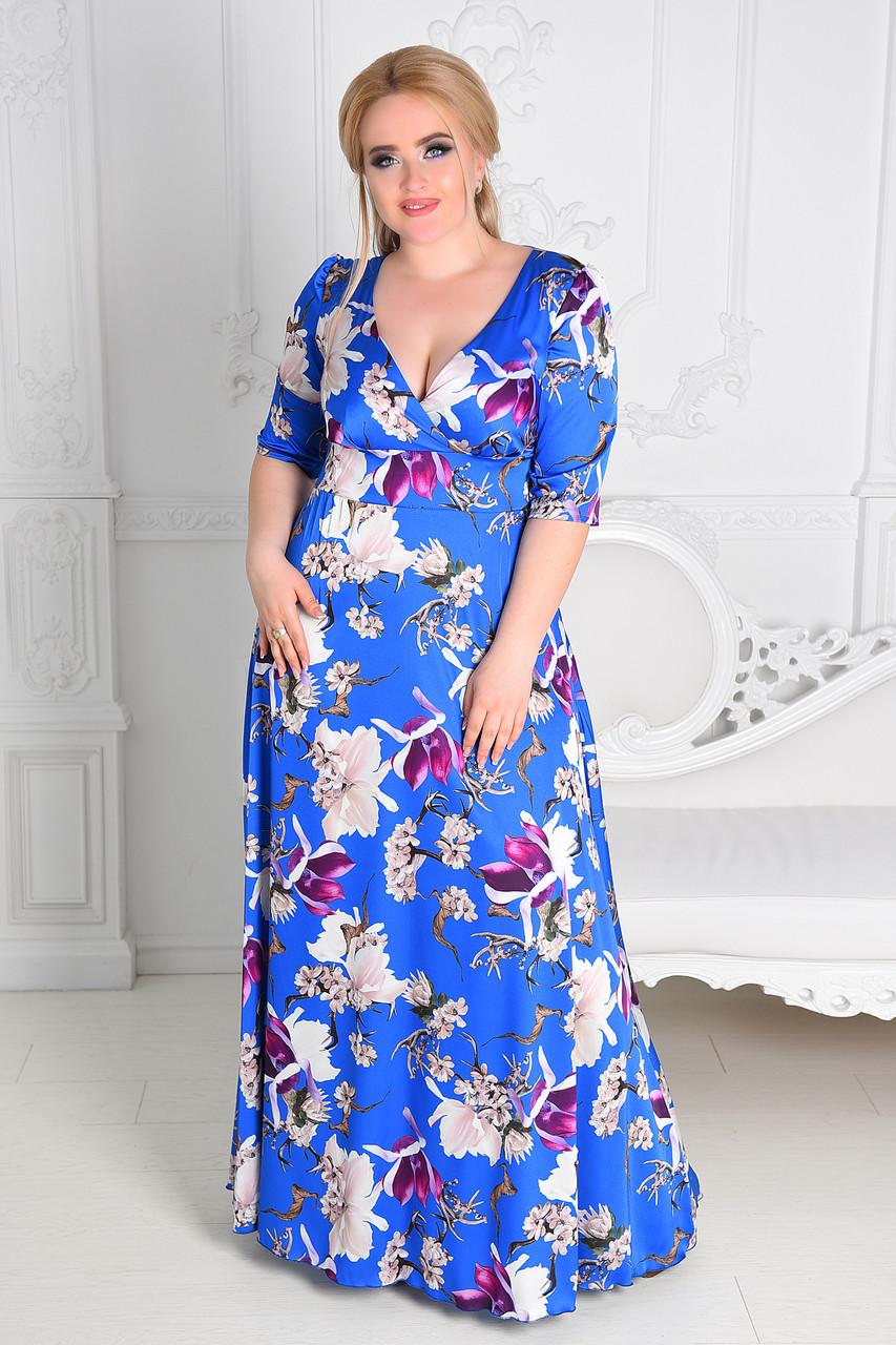 Женское вечернее платье в пол  8174.1