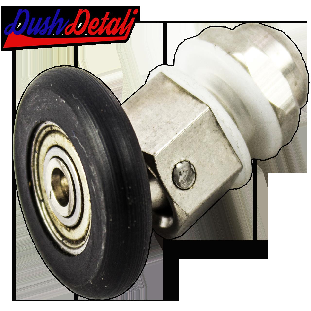Ролик для душевой кабины металлический, эксцентриковый, поворотный,  латунный  ( А011 )