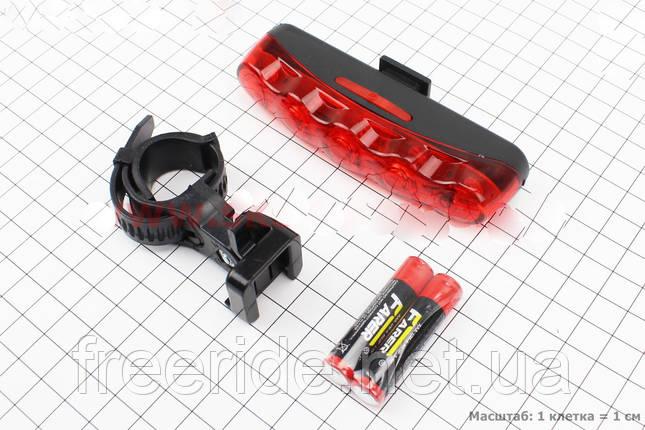 Задний фонарь,велостоп, мигалка, габарит для велосипеда JY-358 5 led, фото 2