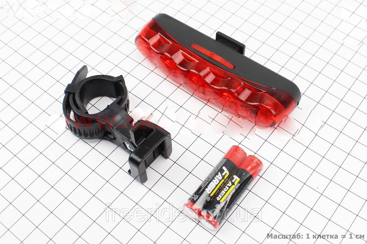 Задний фонарь,велостоп, мигалка, габарит для велосипеда JY-358 5 led