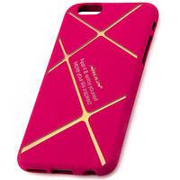 Чехол силиконовый Nillkin iPhone 6 matte pink-gold