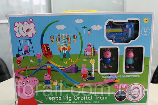 Игровой набор поезд, трек свинка Пеппа pepa pig XZ №404