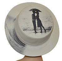 Шляпа женская Канотье фотопринт море