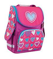 """Рюкзак  каркасный  1 вересня Smart PG-11 """"Blue heart""""  553320, фото 1"""