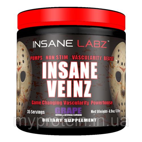 Донаторы азота (пампинг) Insane Labz Insane Veinz 139 грамм (35 порций).
