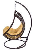 """Подвесное кресло-качели """"Komfort"""" коричневая стойка"""