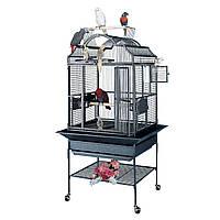 Вольер клетка для птиц-попугаев 69*61*157(163) см белый цвет King's Cages