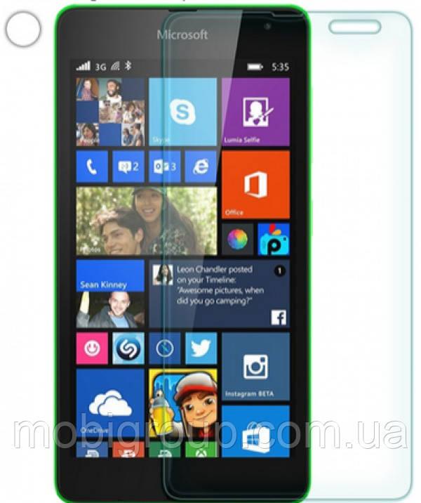 Стекло защитное 0,26 mm 2,5D 9Н NK Lumia 535