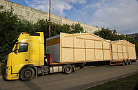 Перевозка модульных зданий по СНГ, Европа, Азия. Международные перевозки. Негабаритные перевозки.