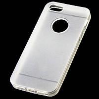 Чехол силиконовый iPhone 5/5S матовый белый