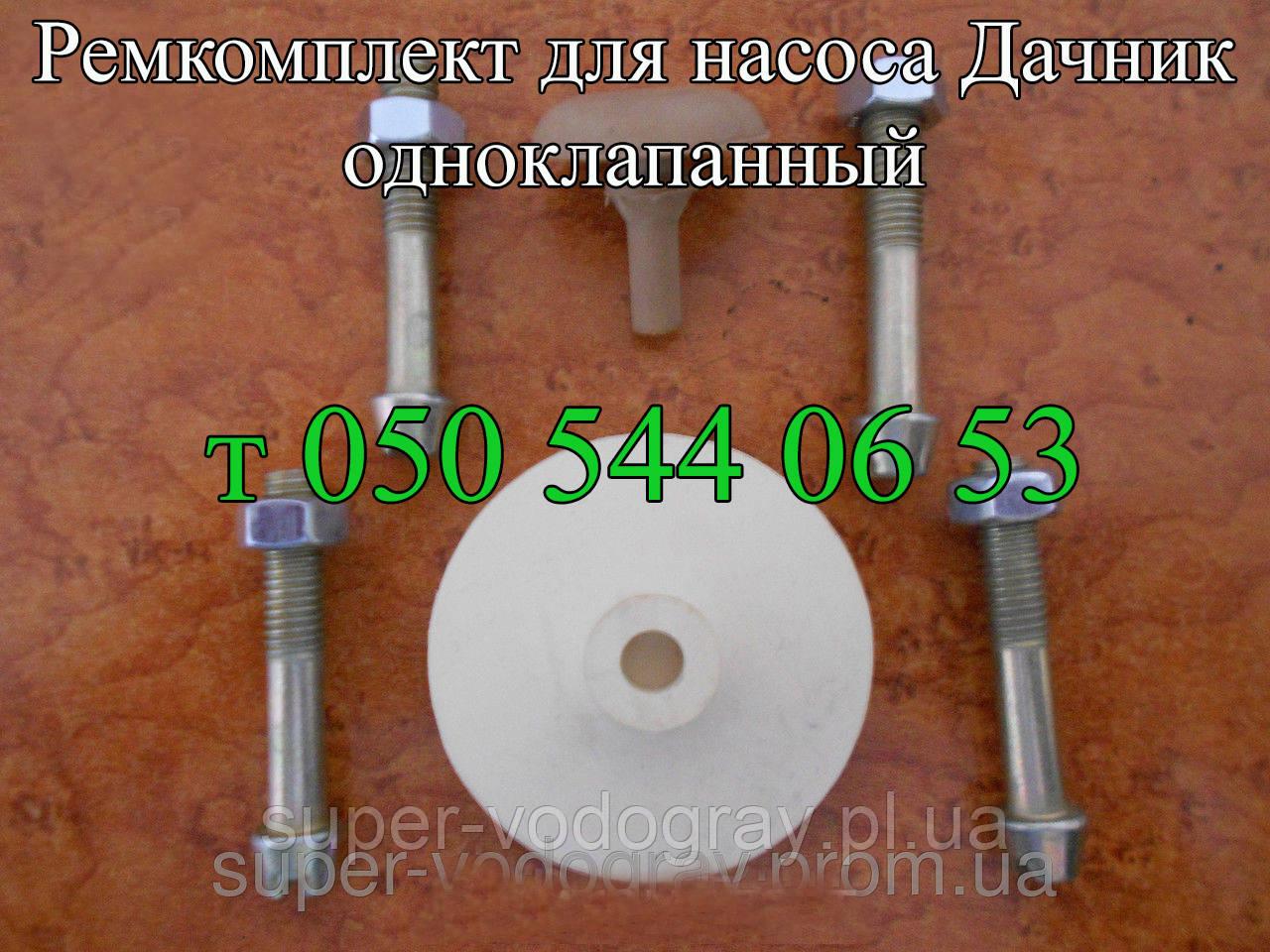 Ремкомплект для насоса Дачник (одноклапанный)