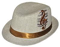 Шляпа детская челентанка вышивка скрипичный ключ канва