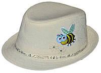 Шляпа детская челентанка пчелка на молоке