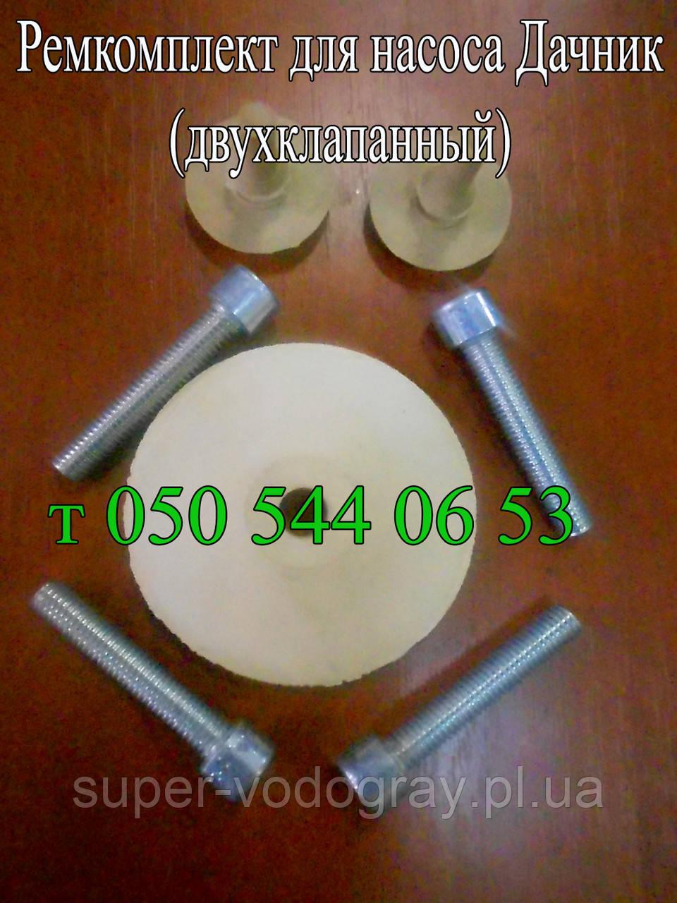 Ремкомплект для насоса Дачник (двухклапанный)