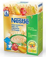 Nestle Каша мол. овес, рис c яблоком и грушей 6м+ 200г 7613035675001