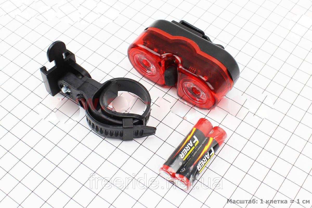 Задний габарит мигалка для велосипеда (2 LED)  JY-528