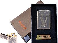"""Спиральная USB-зажигалка """"Make"""" №4791-4, стильный и модный девайс курящих людей, идея для подарка"""