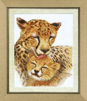 Набор для вышивания крестом Crystal Art Семья гепардов
