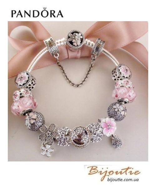 Pandora браслет цветение 590744cz серебро 925 пандора оригинал