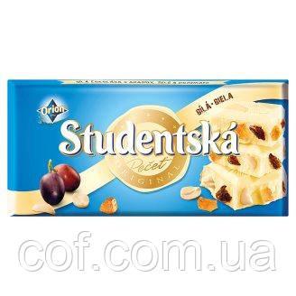 Шоколад белый Orion Studentska Pecet со сливой 180г (Чехия)