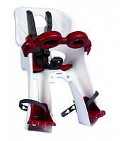 Сиденье переднее Bellelli Freccia Standart B-fix до 15кг, белое с красной подкладкой