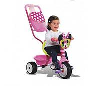 Трехколесный велосипед трансформер с сумкой Минни Маус Smoby 444248 (идентичен 444202)