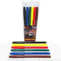 Фломастеры цветные 828A-6 Машины монстры 6цв
