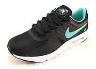 Кроссовки  Nike Air Max текстиль черно-салатные унисекс(р.38)