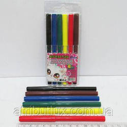 Фломастеры цветные с вентилируемым колпачком 6816E-6 Котик 6цв
