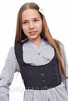 Жилет для девочки школьный  М-933  рост 146-170