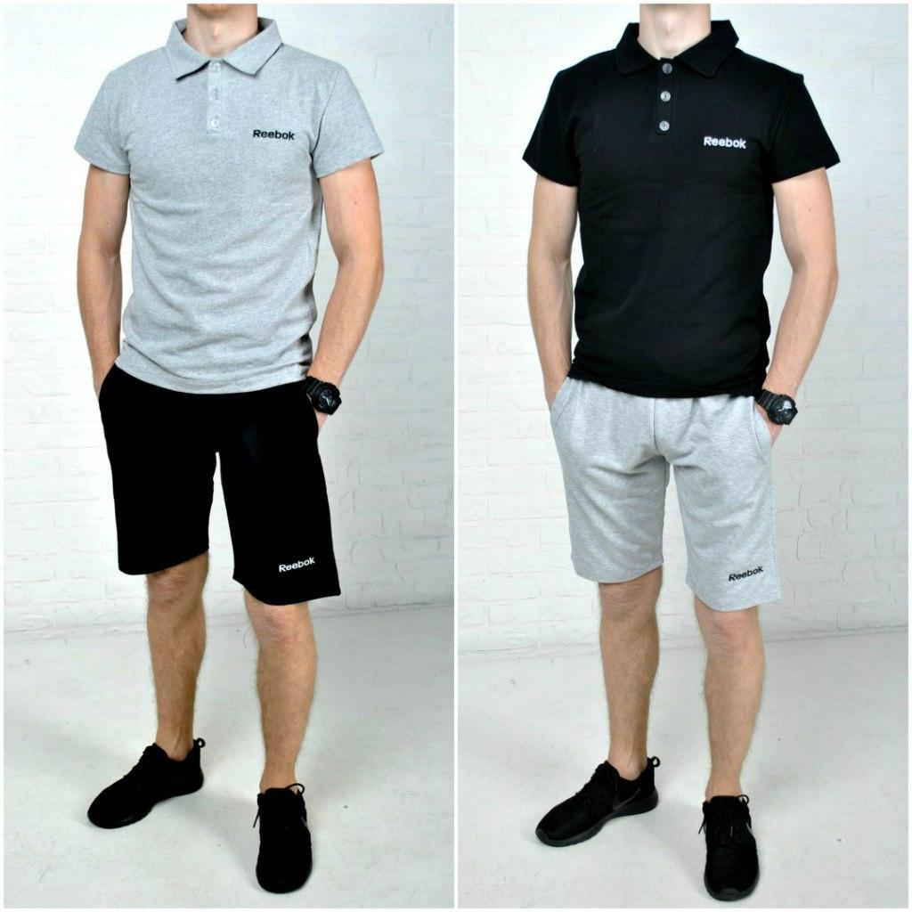 fdcf699d600b Спортивный комплект футболка поло + шорты Reebok - Размеры  S,M,L,XL ...
