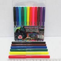 Фломастеры цветные с вентилируемым колпачком 6816F-12 Биг фут 12цв