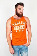 Майка мужская без рукава, 100% хлопок №85F019 (Оранжевый)