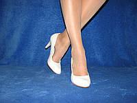 Свадебные нежные туфли лодочки для невесты на шпильке 36-40