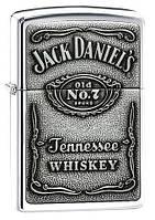 Зажигалка ZIPPO 250 JD 427 JACK DANIELS - PEWTER EMBLEM