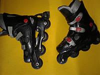 Ролики Роликовые коньки (б/у) черные Длина стельки 26 см.