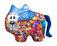 """Антистрессовая игрушка мягконабивная """"SOFT TOYS """"Кіт"""", джинсовый Danko Toys"""