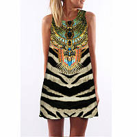 Платье с тигровым принтом СС7162